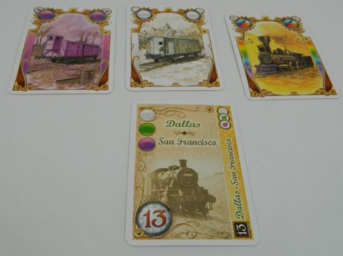 Complete Destination Ticket in Ticket to Ride The Card Game
