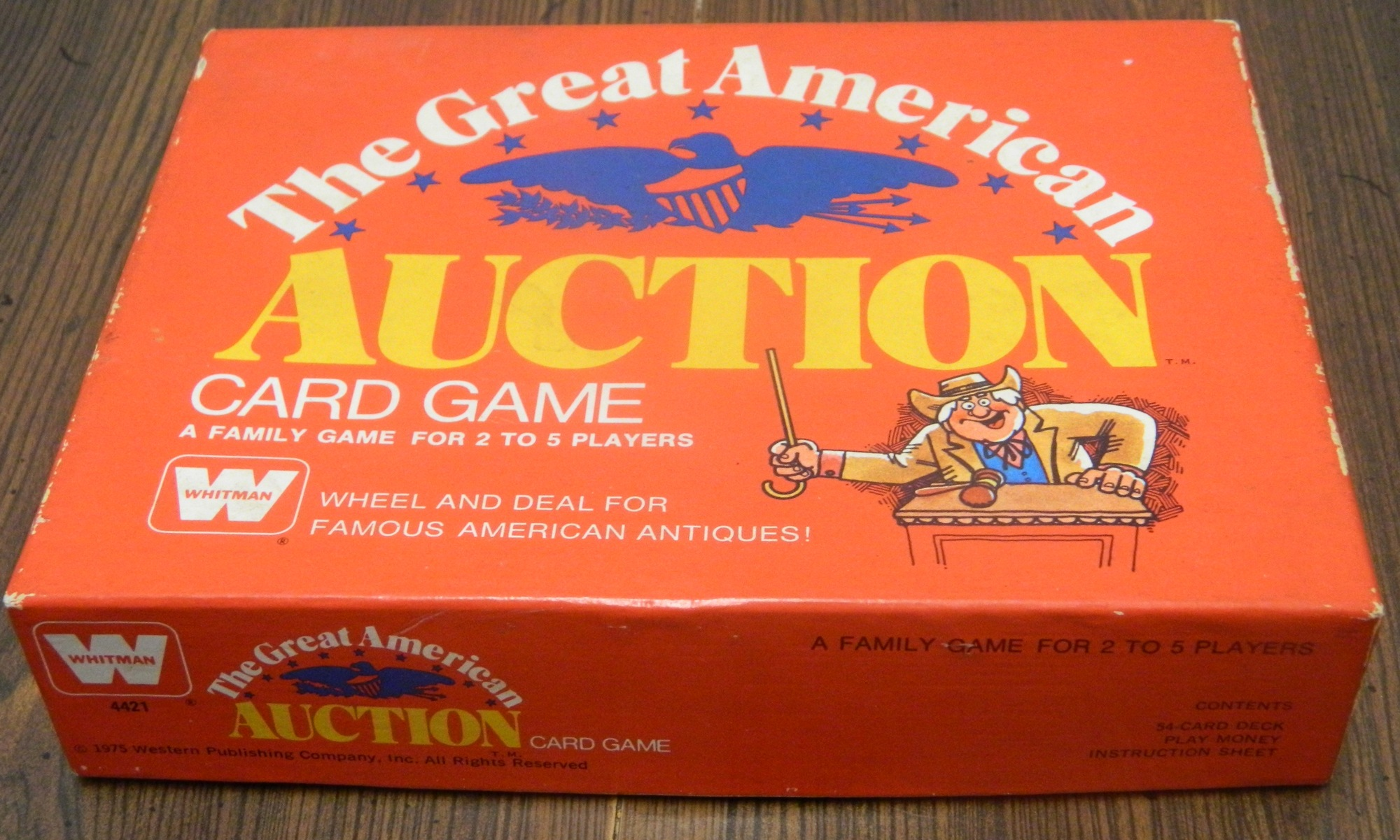 Great American Auction Card Game Box