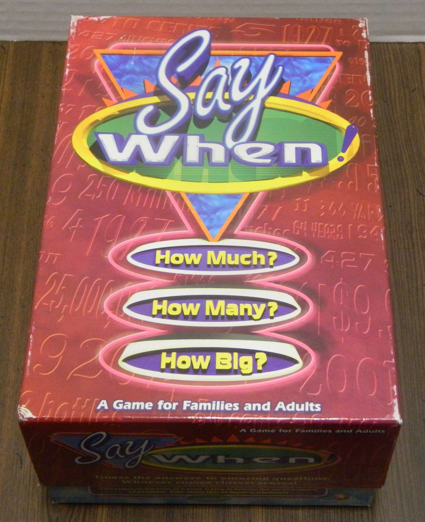 Say When Trivia Game Box