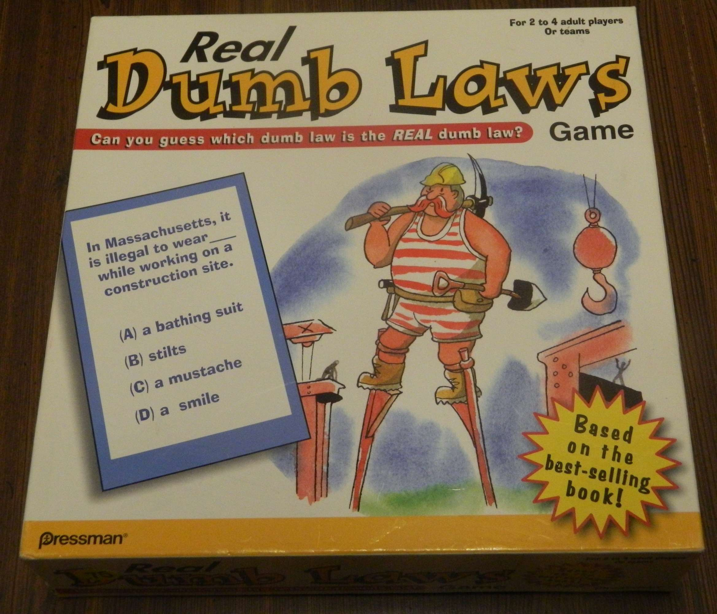 Real Dumb Laws Trivia Game Box