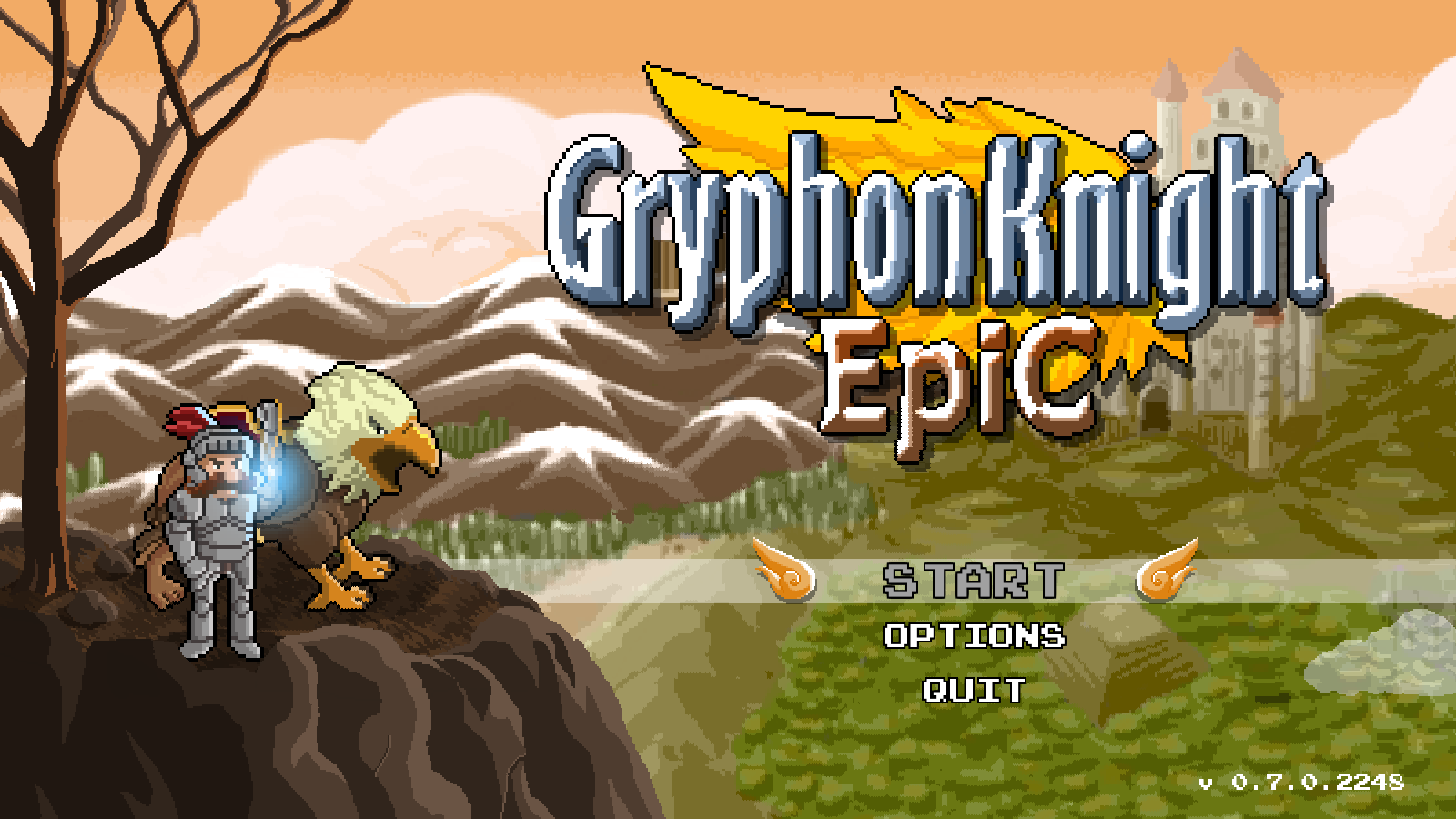 Gryphon Knight Epic Title Screen