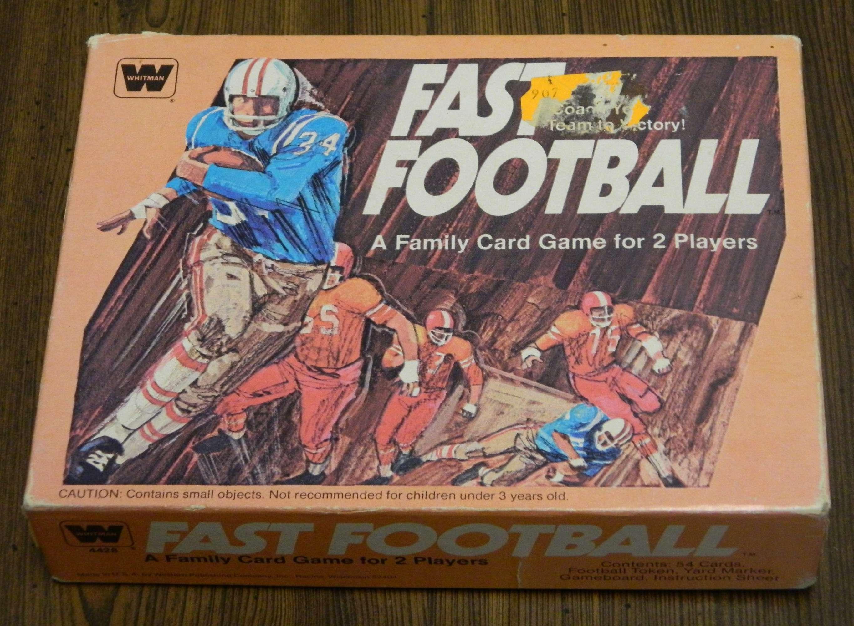 Fast Football Card Game Box