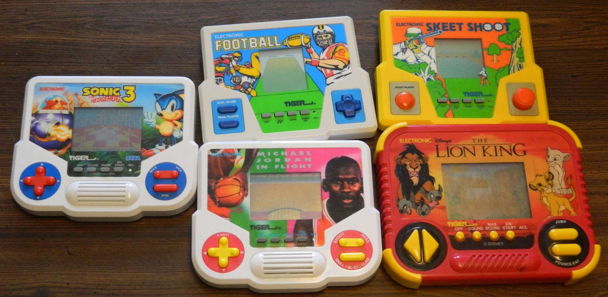 Tiger Electronics Handhelds