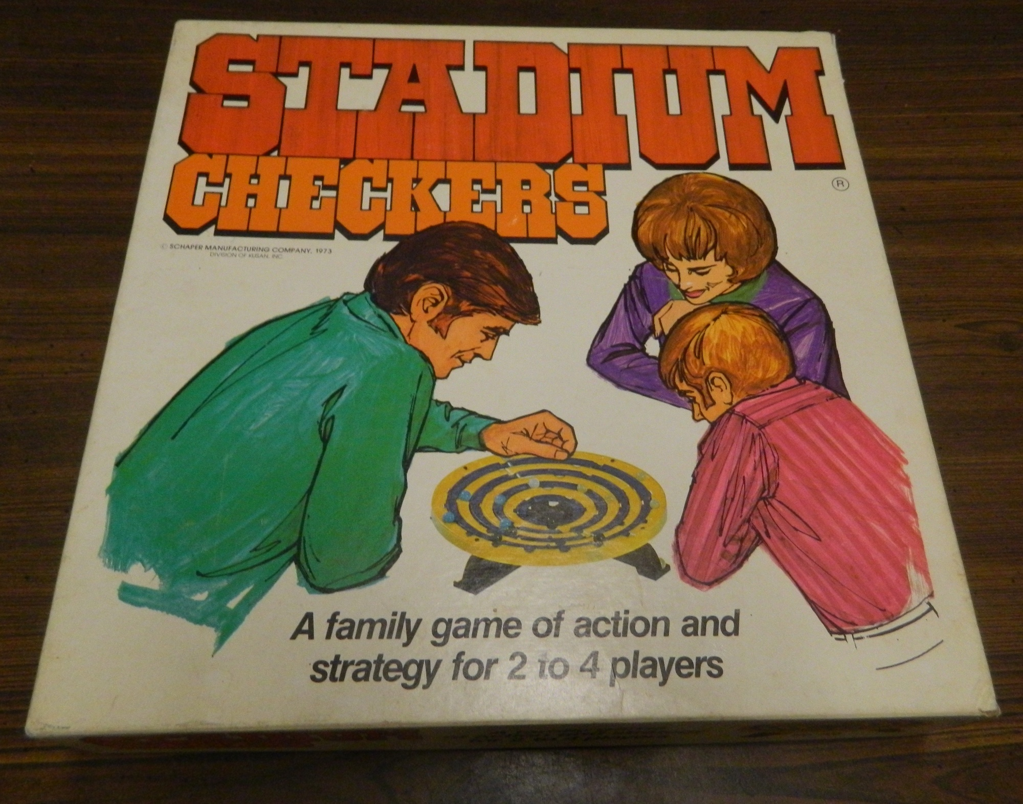 Box for Stadium Checkers