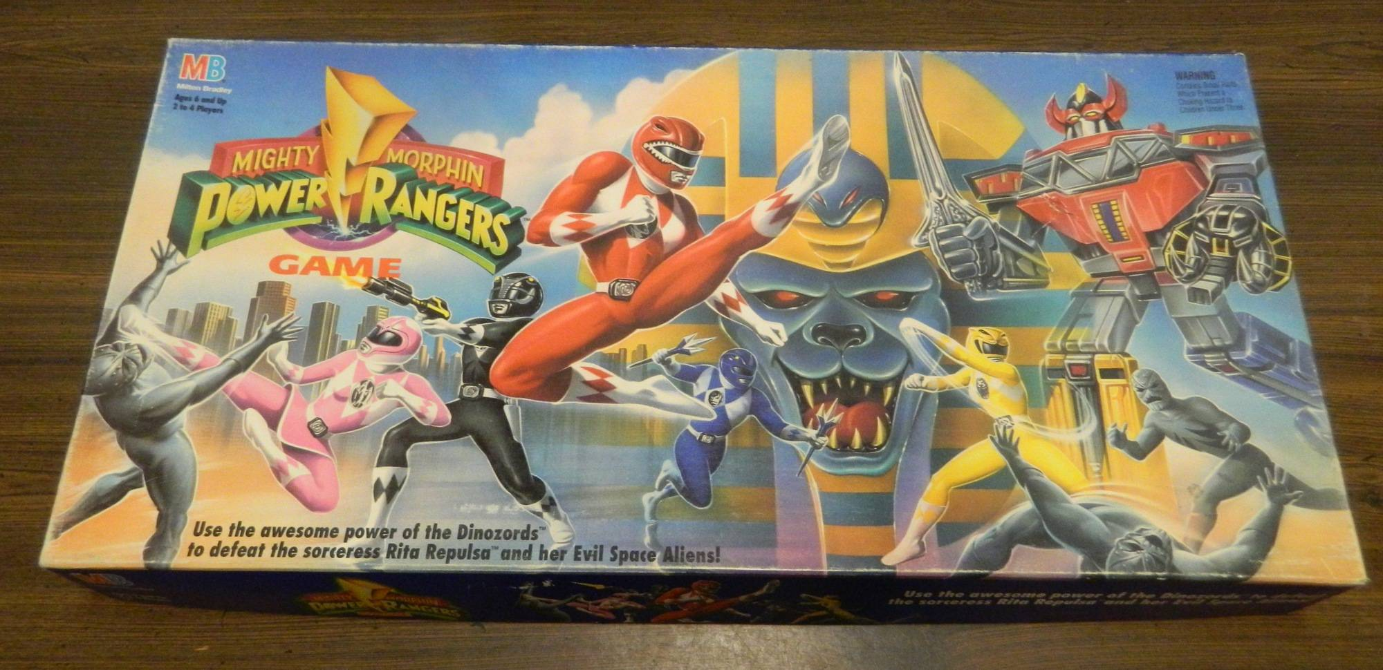 Box for Mighty Morphin Power Rangers Game