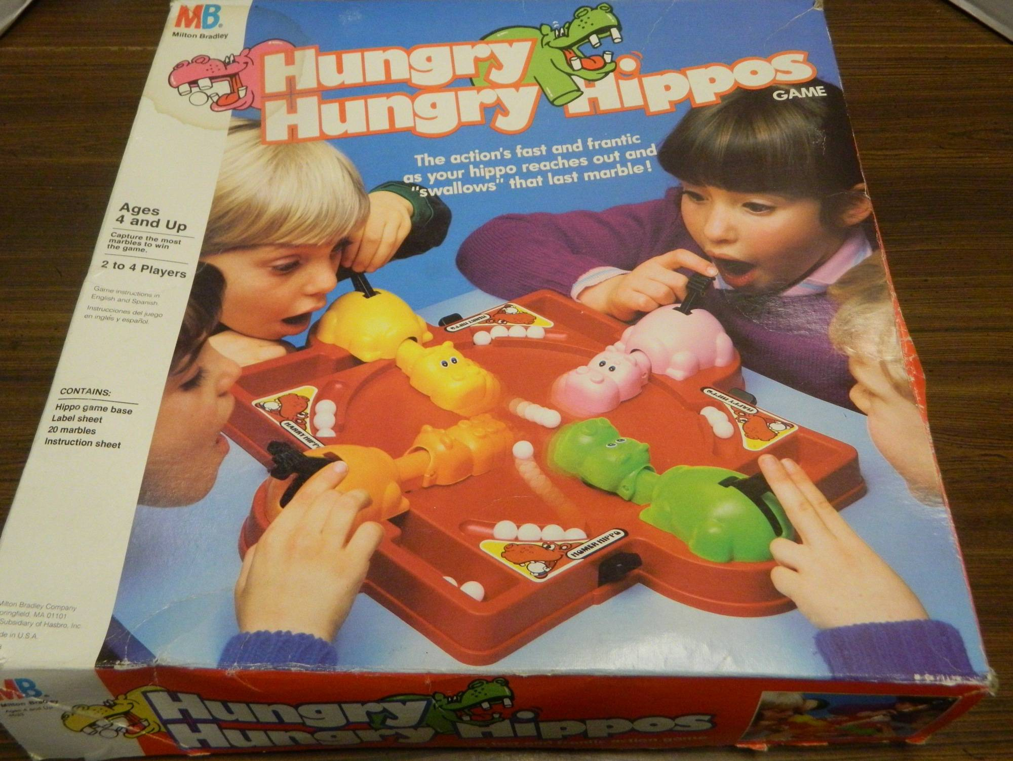 Box for Hungry Hungry Hippos