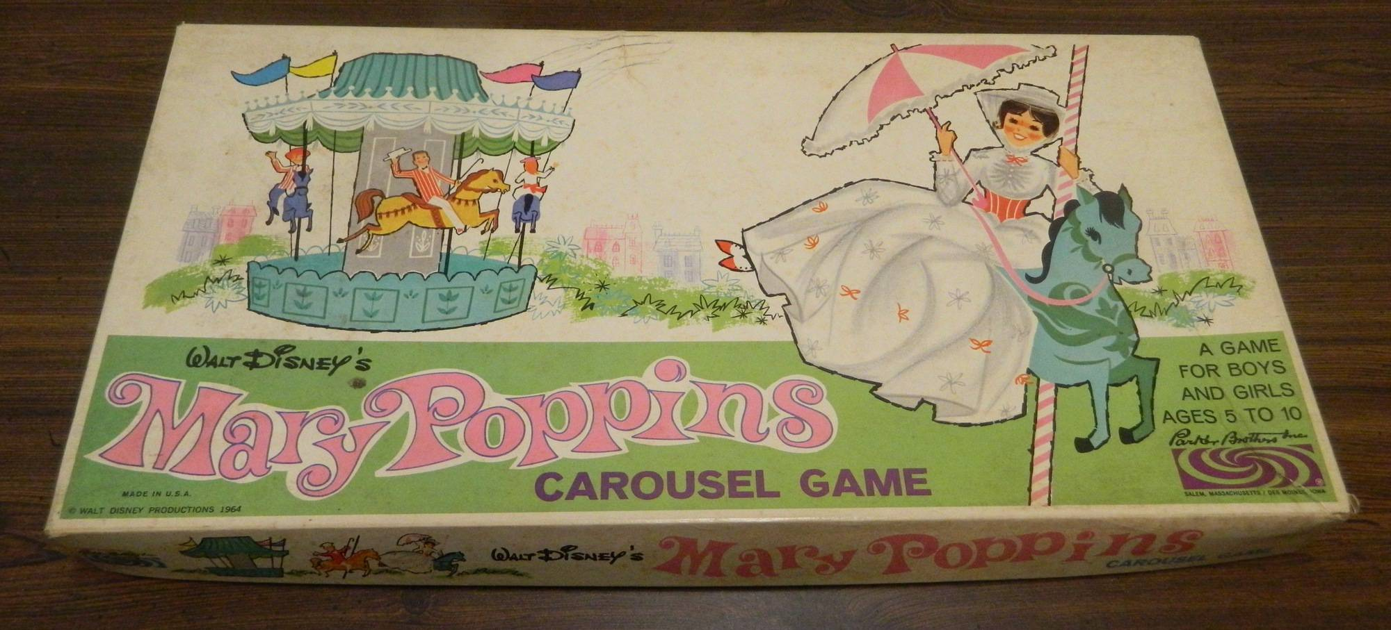 Box for Mary Poppins Carousel Game