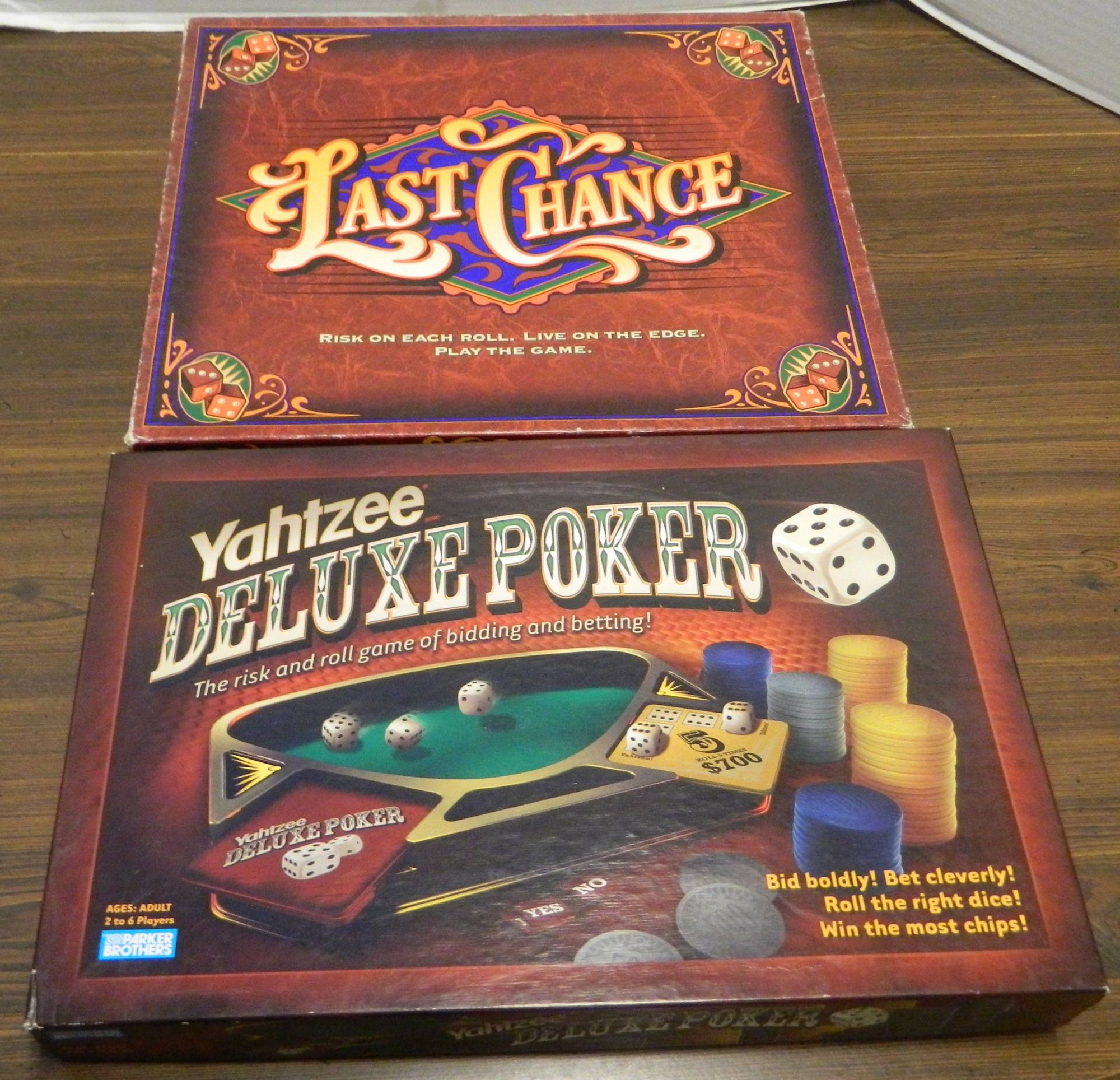 Box for Yahtzee Deluxe Poker