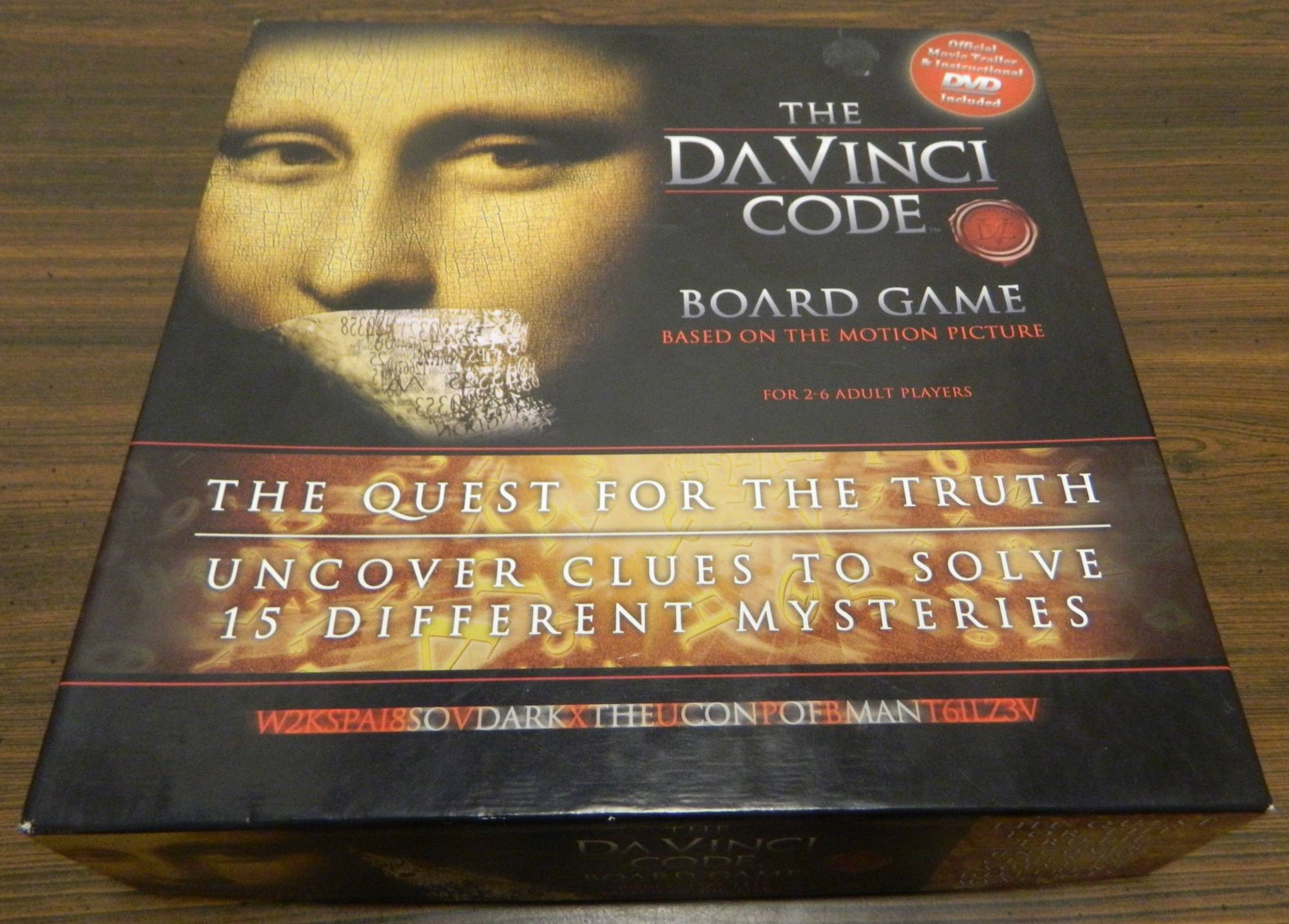 Box for The Da Vinci Code Board Game