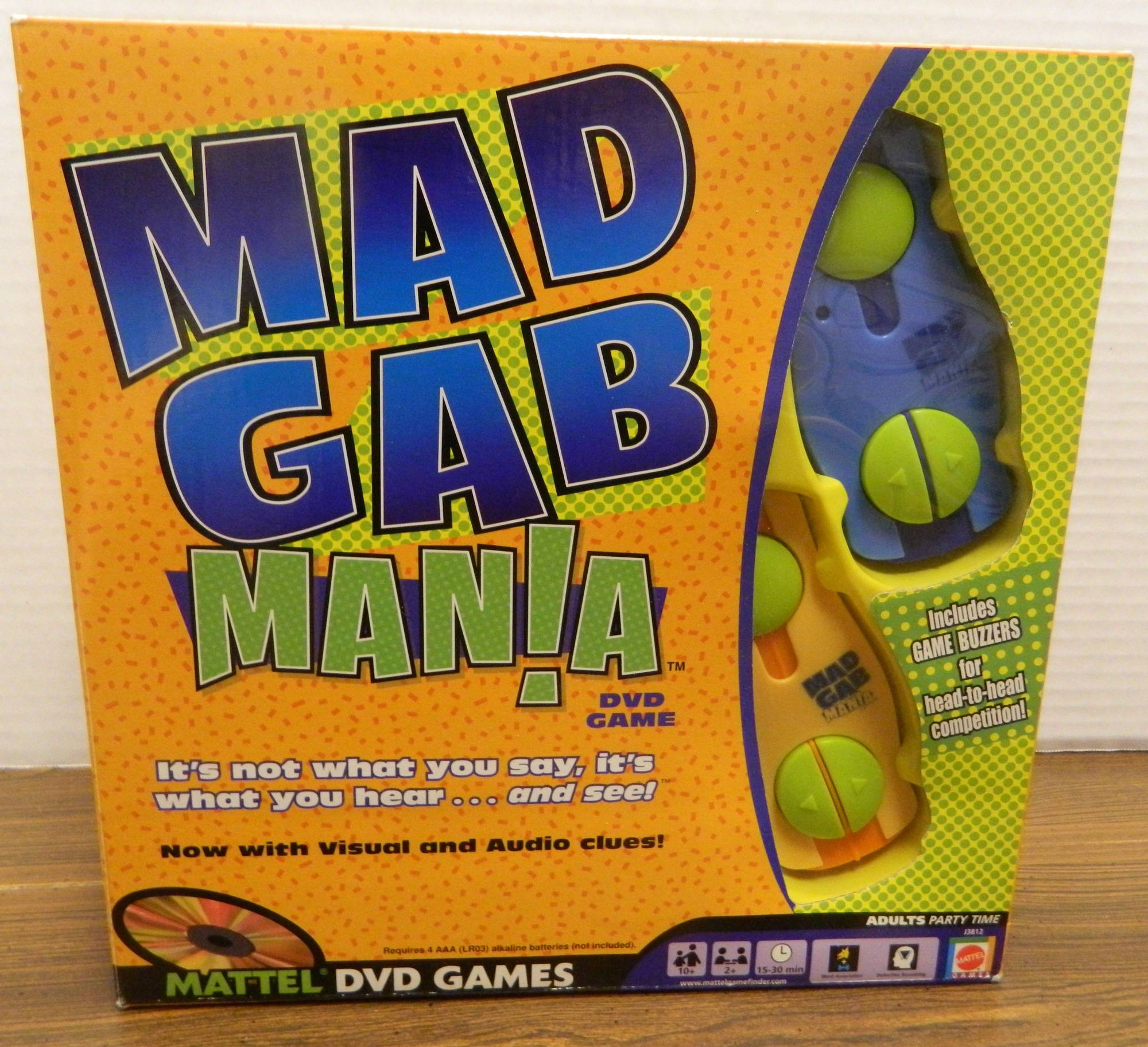 Box for Mad Gab Mania