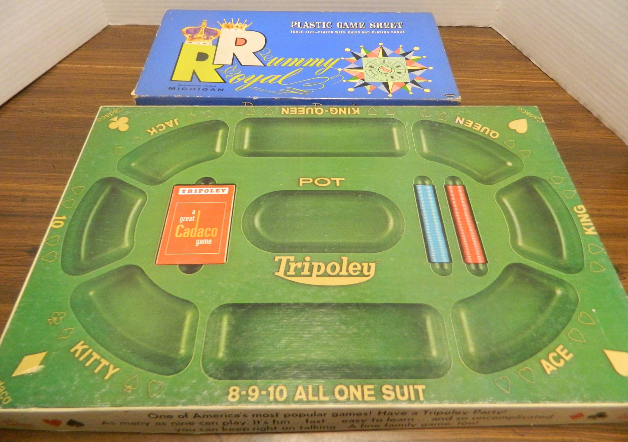 Box for Rummy Royal and Tripoley Box
