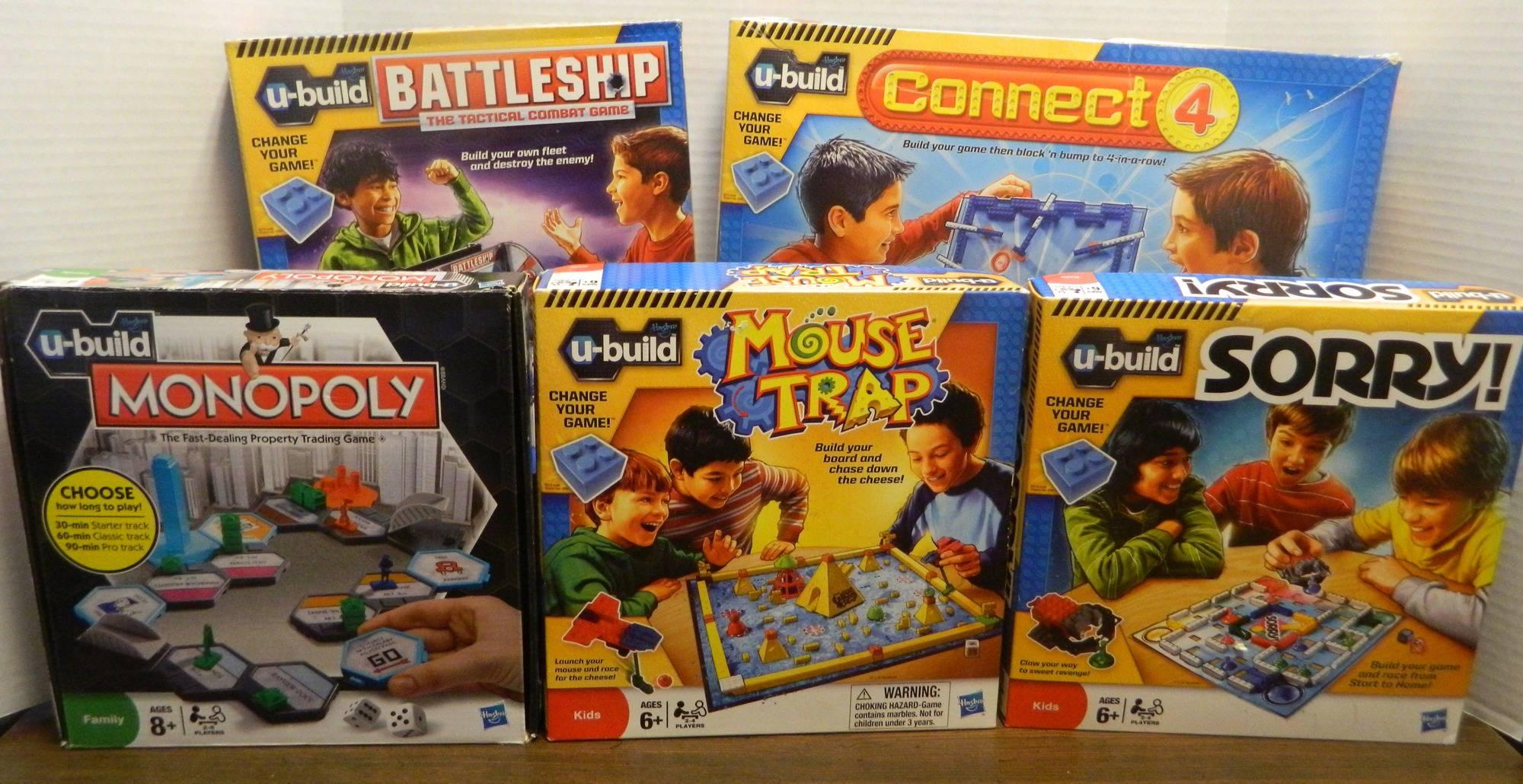 Hasbro's U-Build Games