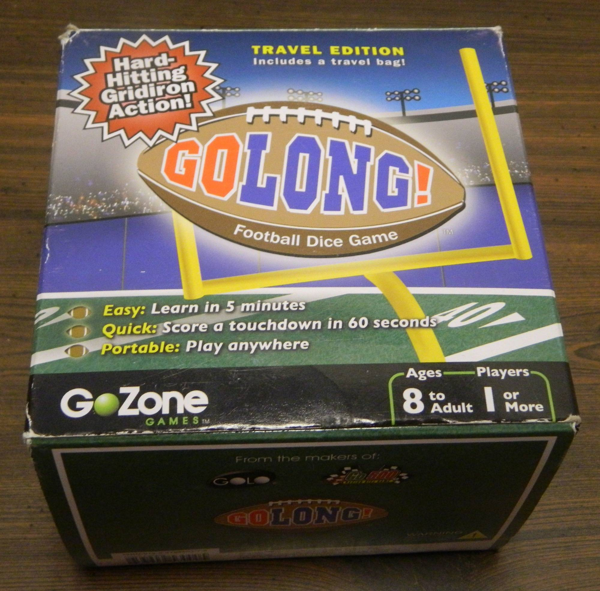Box for GoLong Football Dice Game