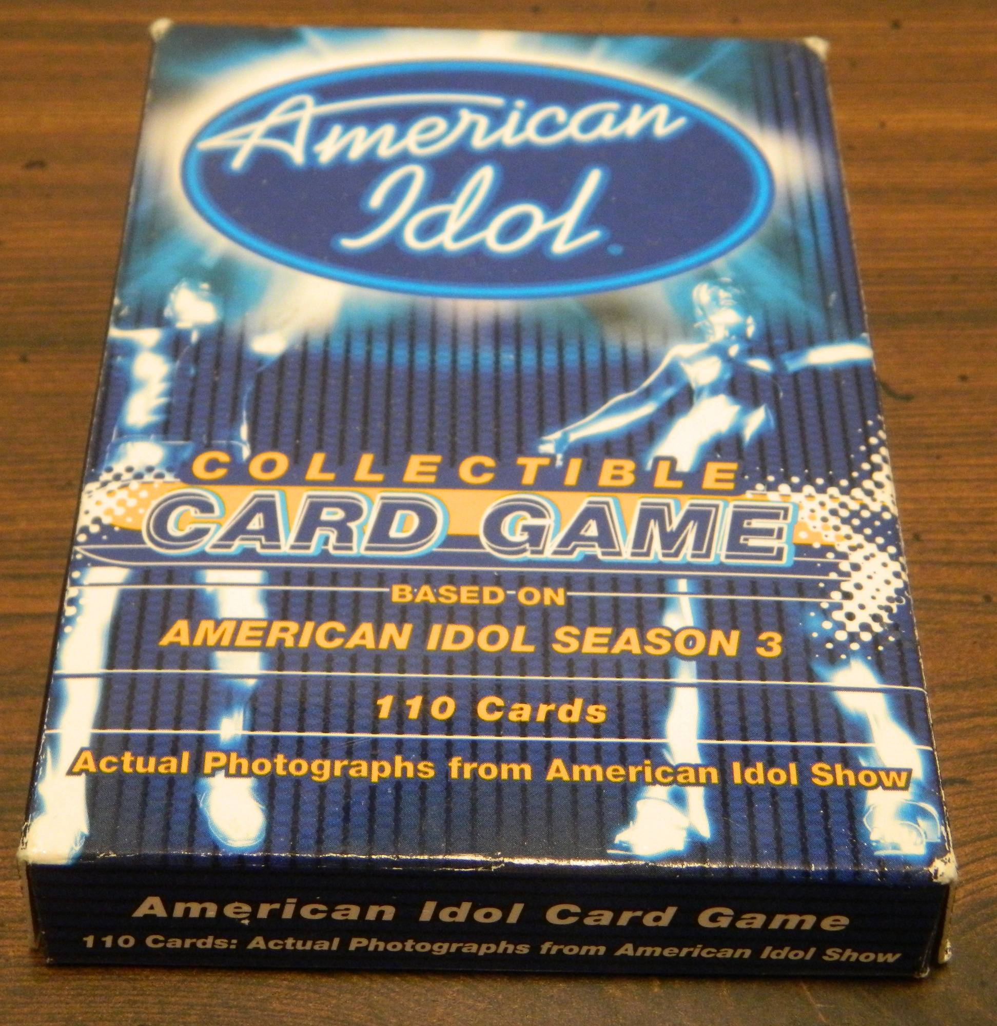 Box for American Idol Collectible Card Game