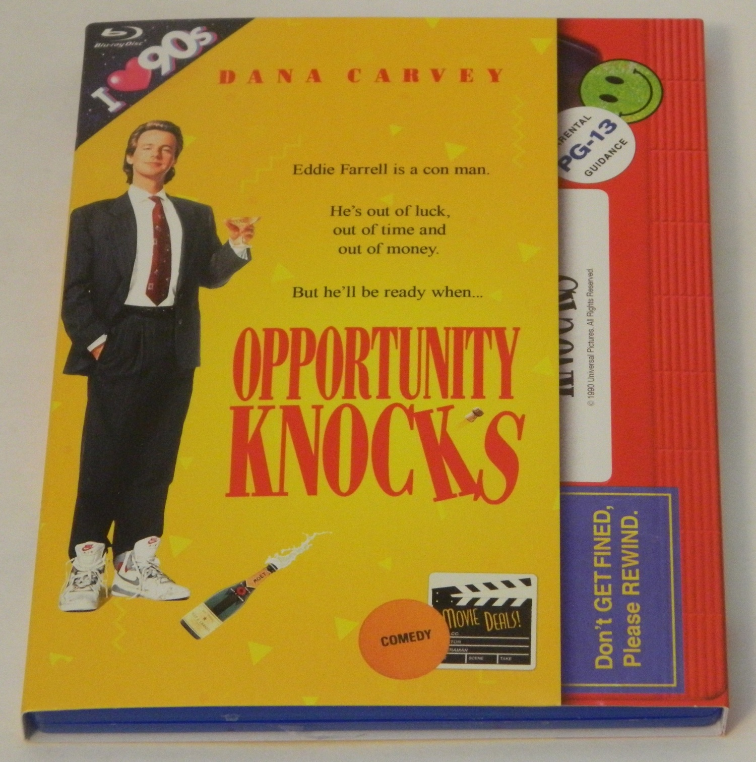 Opportunity Knocks Retro VHS Art Blu-ray