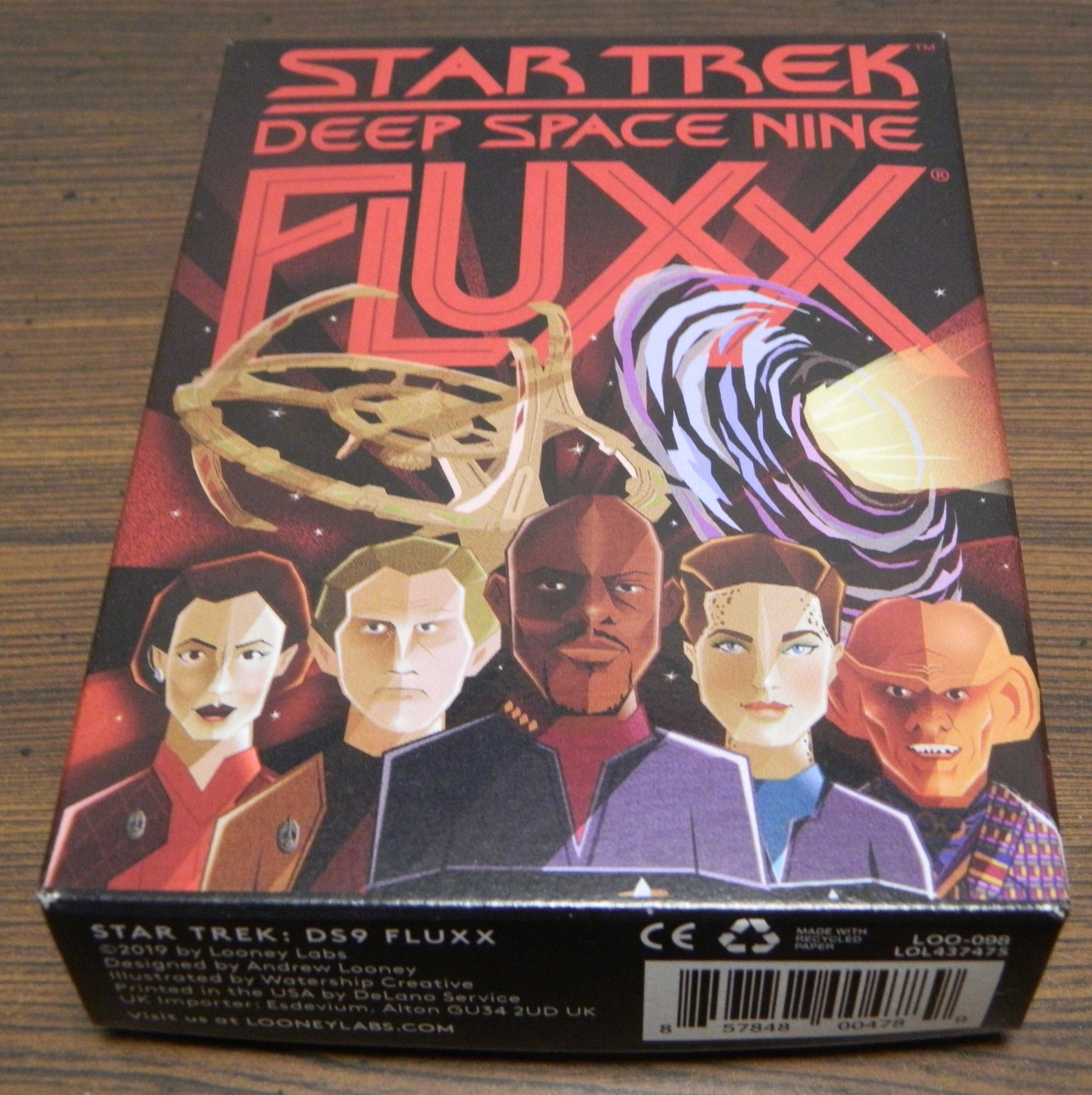Box for Star Trek Deep Space Nine Fluxx