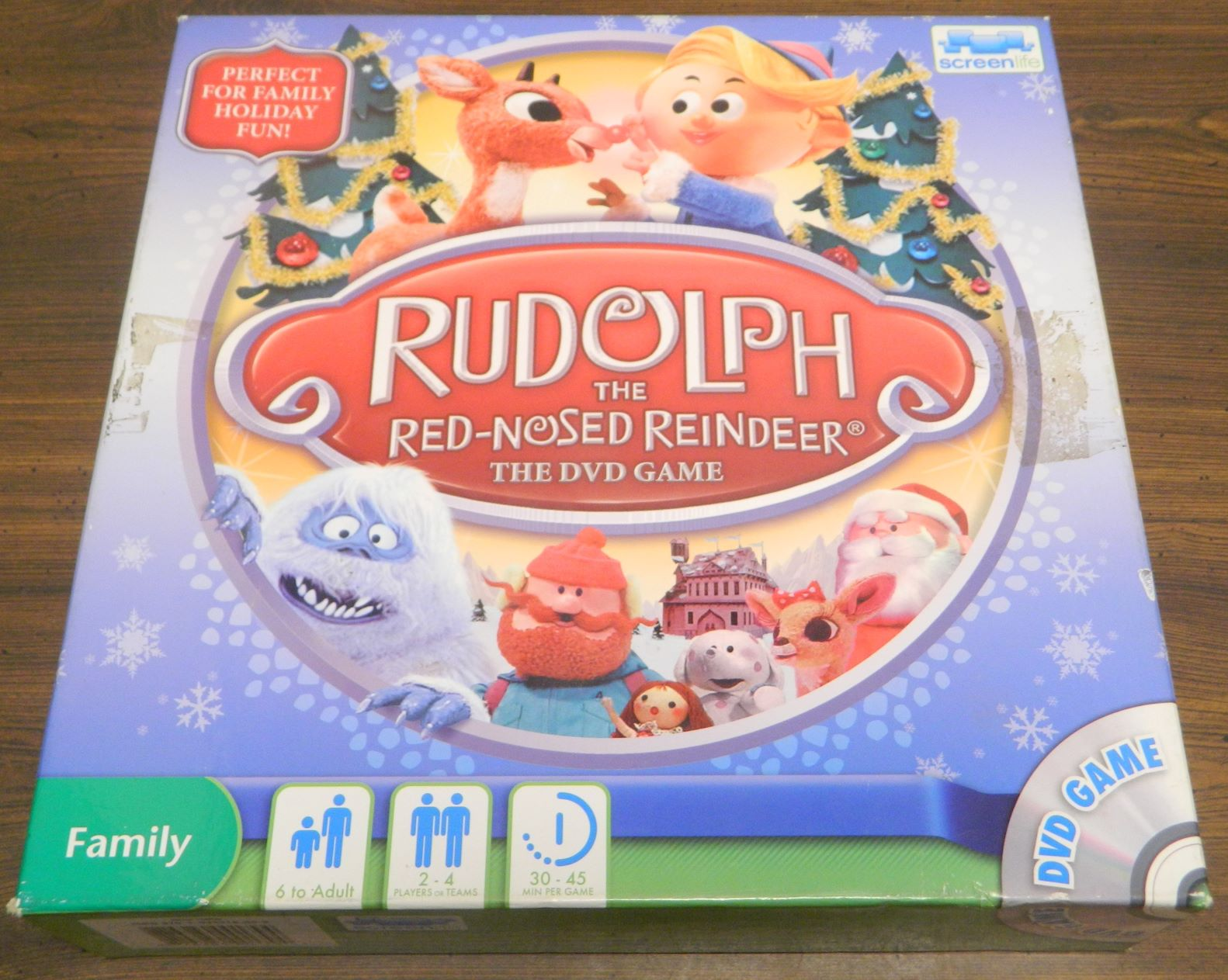 Box for Rudolph the Red-Nosed Reindeer DVD Game