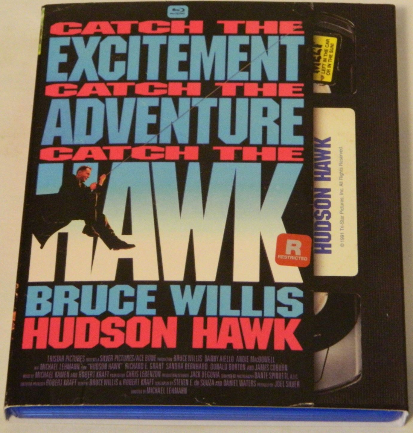 Hudson Hawk Retro VHS Artwork Blu-ray