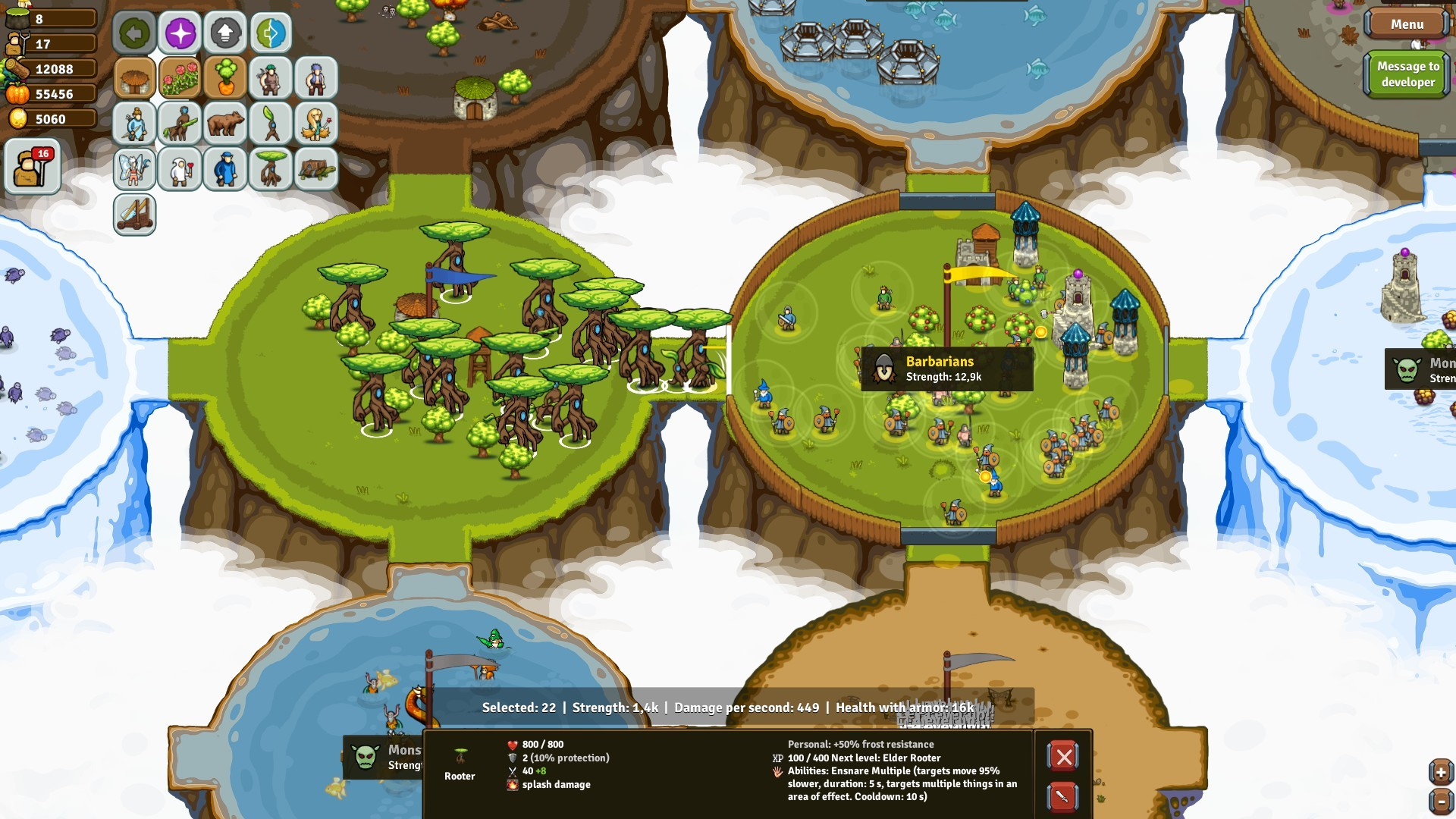 Circle Empires Rivals: Forces of Nature Screenshot