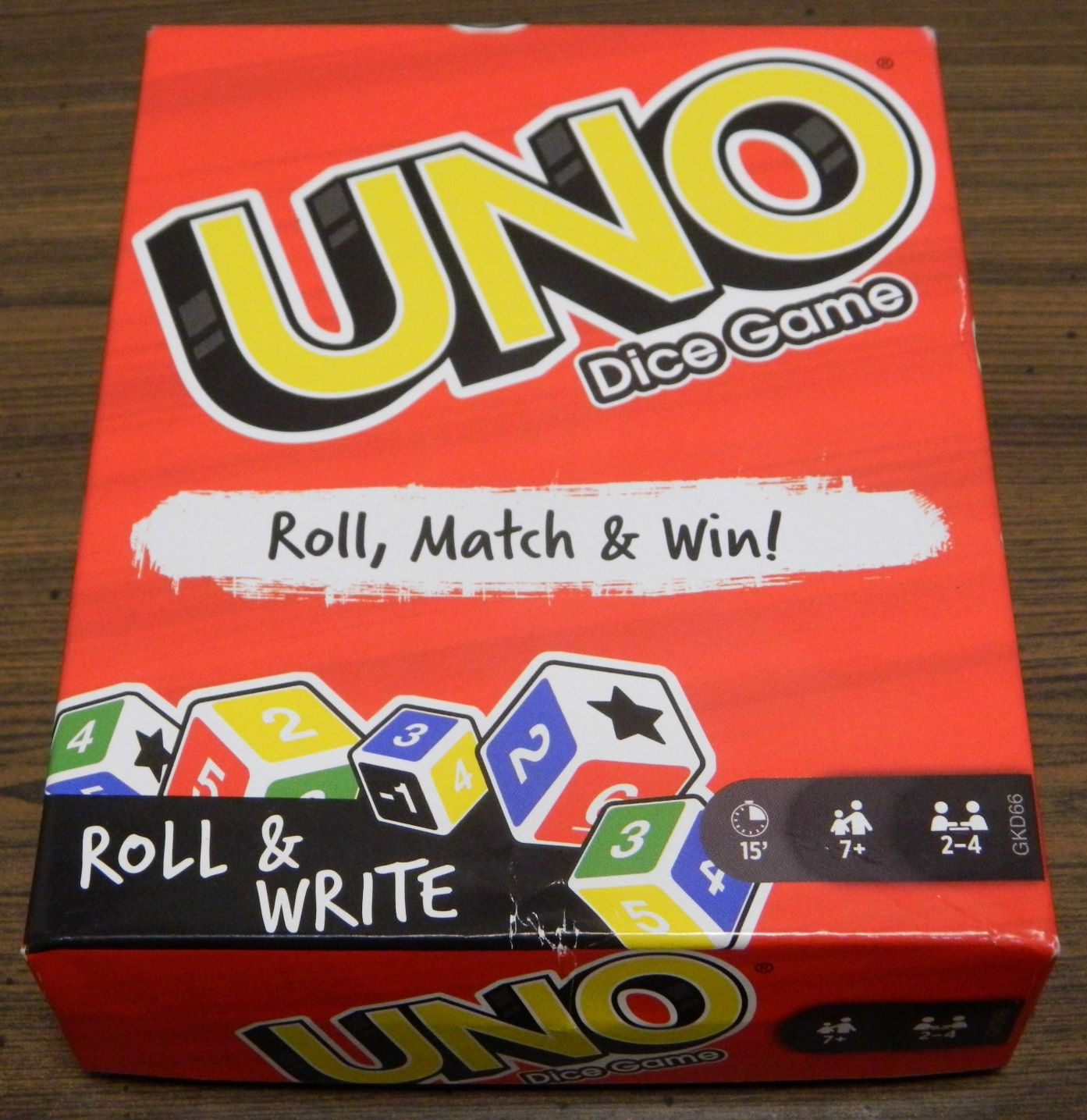 Box for UNO Dice Game Roll and Write